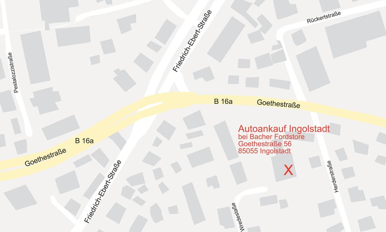 Bild Anfahrtsskizze Autoankauf Ingolstadt